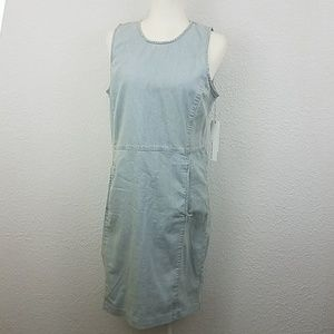 Calvin Klein Jeans dress NWT sz L washed of denim